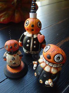 Plumpkin Trio by Melissa Valeriote's Fantastical World of Holidays, via Flickr