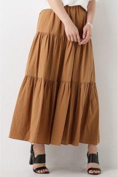 Cボイル ティアードスカート