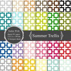 KatiesWish: Garden trellis inspired freebie kit