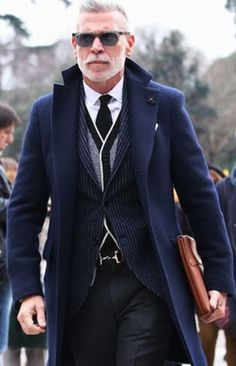 Nick Wooster @ Pitti Uomo, Milan. Men's Fall Winter Fashion.