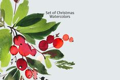 Set of Christmas watercolors by ArtStore on @creativemarket