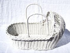 Wicker Baby Bassinet. My grandma has been saving one of these for me ...