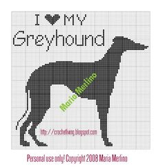 Crochet Living: I Love My Greyhound Crochet Chart or Graph!