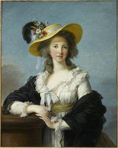 Vigée Lebrun, Portrait of Yolande-Gabrielle-Martine de Polastron, duchess de Polignac, 1782, Oil on canvas, 92 x 73 cm (Versailles)