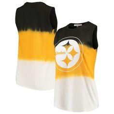 Pittsburgh Steelers Junk Food Women s Dip Dye Muscle Tank Top – Black Gold 191d44143