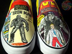 Vintage Comic Shoes by Damn Dirty Angel