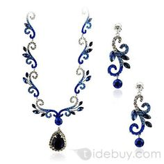 Fancy Alloy with Rhinestone Wedding Jewelry Set