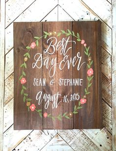 Personalized // Rustic Wooden Wedding Sign with by ThePaperWalrus