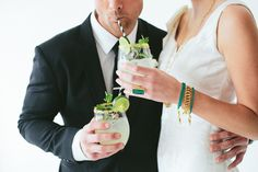 Love this cute shot of the bride and groom having a few cocktails! utah bride blog spring 2013 editorial. Alta moda gown. Dress code custom fashion. Katie waltman jewelry and travis j photography
