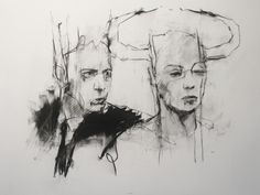 Guy Denning 'because i choose it to be that way, because I can' conte and chalk on paper, 30 x 40 cm, 2012