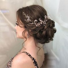 Hairstyle Wedding hair vine Extra Long Crystal and Pearl Hair Piece Flower headpiece Brida. Wedding hair vine Extra Long Crystal and Pearl Hair Piece Flower headpiece Bridal Jewelry Crystal wreath Accessories for bride Headband Vine Wedding Hair And Makeup, Wedding Hair Accessories, Wedding Hair Brunette, Bridal Hair With Veil Updo, Updo For Long Hair, Hair Wedding, Hair Piece Wedding, Brunette Wedding Hairstyles, Bridal Hair Updo Elegant