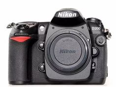 corpo máquina fotográfica profissional nikon d200 semi-nova