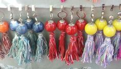 Tablecloth Weights, Arts And Crafts, Diy Crafts, Wine Charms, Tassels, Projects To Try, Drop Earrings, Personalized Items, Sewing