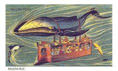 #Autobus sottomarini nel 2000, immaginati dall'illustratore francese #Villemard agli inizi del XX secolo En l'an 2000 #Visioni dal #passato