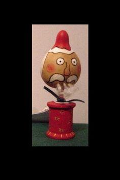 Santa Gourdhead Spoolie 1 Christmas Primitive by LakeViewStudio