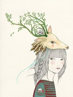 Deer Girl by Lady Desidia #illustration