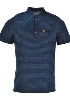 Farah Vintage Mens Balcombe Polo Shirt, Navy | McElhinneys Department Store