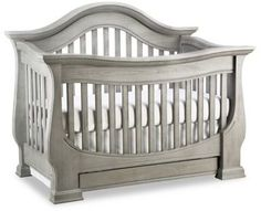 Baby Appleseed® Davenport 4-in-1 Convertible Crib in Morning Mist.  Infuse your nursery with the timeless elegance of Baby Appleseed's sophisticated Davenport Collection.