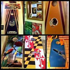 Are you ready for some football?!? We certainly are HERE. with these locally made cornhole boards!! Anyway...they have so many more than pictured HERE., so contact us for any details.  They are heavy duty, cabinet grade, weatherproof, UV protected and routered edges to just name a few of their great features!