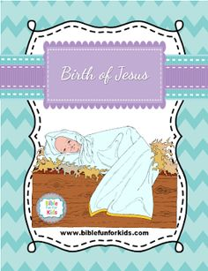 This is one of the Birth of Jesus lessons available with the lesson, visuals, ideas and printables. Birth Of Jesus, Jesus Lives, Sunday School Lessons, Catechism, Kids Church, Bible, Fun, Grade 1, Heavenly