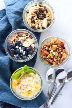 Overnight Oats 4 Ways: The Perfect Breakfast for On-the-Go | Dietitian Debbie Dishes