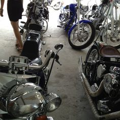 His bikes collection.