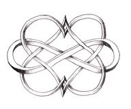 double infinity heart sign tattoo