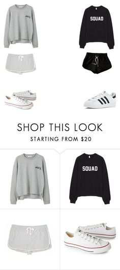 """***"" by t0ri14 on Polyvore featuring MANGO, Lou & Grey, H&M, Converse and adidas"