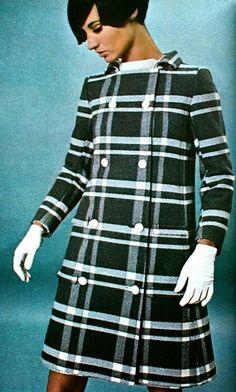 typical 1960s plaid coat.