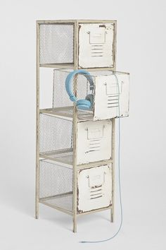 Caged Locker Cabinet  -cool for storage or pantry items