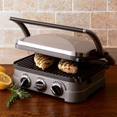 Looks like a versatile item for us being minus the backyard grill + promotes grilled cheese LOVE!