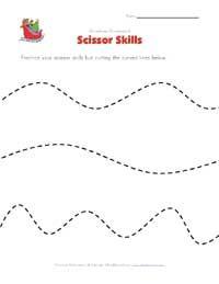 christmas scissor skills worksheet