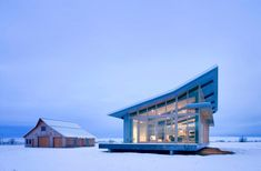 Glass Farmhouse by Olson Kundig Architects Cool barn, would not really like to live in the glass house.   Has great elements though...
