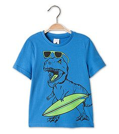 Kurzarmshirt aus Bio-Baumwolle in der Farbe blau bei C&A
