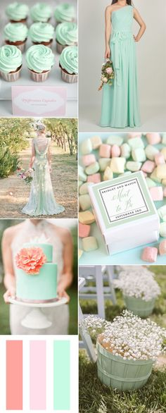 mint wedding ideas - mint bridesmaid dresses and wedding colors 2015