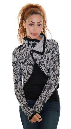 You'll love this unique Desigual crop sweater #Desigual #Sweater