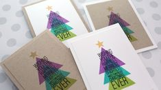 Holiday Card Series 2017 � Day 2 � Modern Christmas Tree with Triangle Stamp