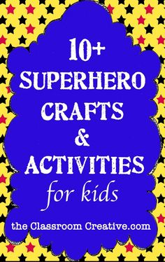 lots of #superhero crafts and activities