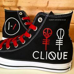 5627342f745e Twenty One Pilots Clique Converse  converse  customconverse  top   twentyonepilots  clique