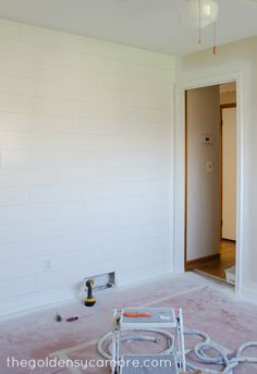 The Golden Sycamore - DIY Wood Plank Wall