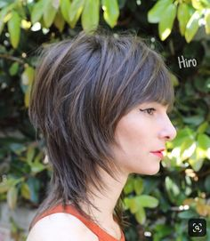 Shaggy Banged Mullet with Face Framing Fringe on Brunette Highlighted Hair with Messy Beach Texture Short Summer Hairstyle - - - Shaggy Short Hair, Short Shag Hairstyles, Short Dark Hair, Summer Hairstyles, Cool Hairstyles, Latest Hairstyles, Edgy Haircuts, Medium Hair Cuts, Short Hair Cuts