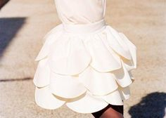 RUFFLE SKIRT! Adorable petal / faux ruffle full a-line short - mini skirt! Diy inspiration. Adorable for spring! Easter dress skirt?