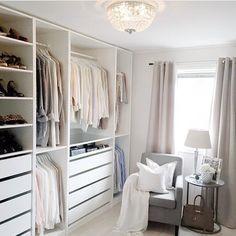 Walk in closet design master suite ikea pax ideas for 2019 Ikea Pax Closet, Wardrobe Closet, Walk In Closet Design, Closet Designs, Home Office Closet, Dressing Room Closet, Master Bedroom Closet, Bedroom Closets, Master Suite