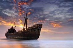 Shipwreck in Gytheio Greece