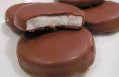 Medallones de menta #mentitas #chocolate #menta