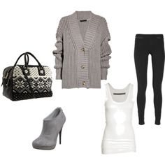 I'd get a different handbag. But I am in love with that sweater cardigan, so comfy!!