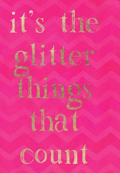 The Glitter Things Canvas Print, Oliver Gal