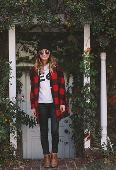 Look by @kitas with #mango #casual #hm #ankleboots #jeans #fall #forever21 #topshop #glasses #rayban #beanies #trenches #plaidcoats.