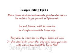 What to know about dating a scorpio man