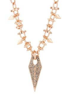 Rebecca Minkoff Blades Statement Pave Necklace | Reminds me of an ink pen nib. :D